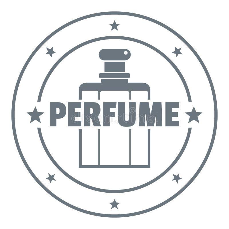 Logotipo da garrafa do aroma, estilo do vintage ilustração stock