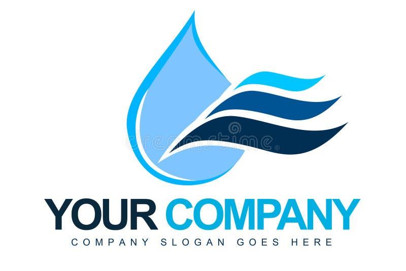 Logotipo da gota da água ilustração royalty free
