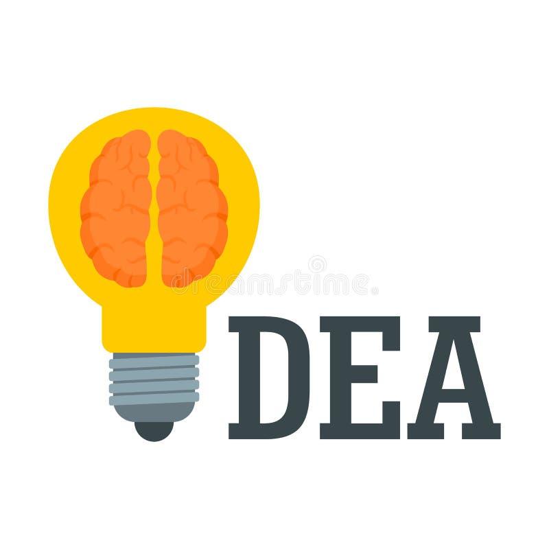 Logotipo da ideia do cérebro, estilo liso ilustração stock