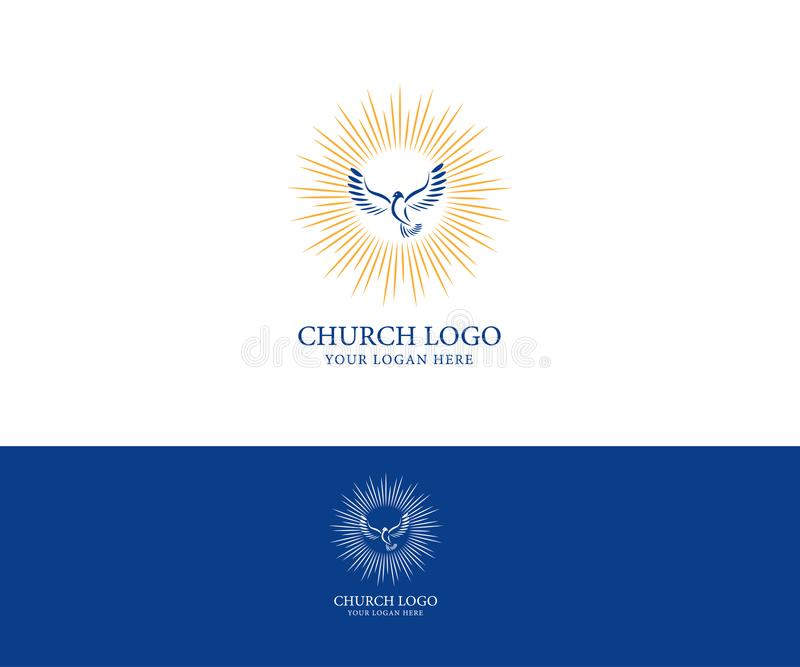 Logotipo da igreja Símbolos cristãos ilustração stock