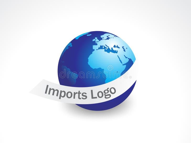 Logotipo da importação ilustração do vetor