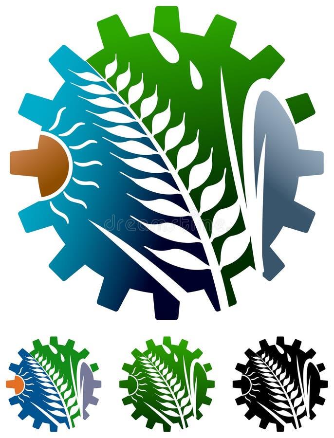 Logotipo da indústria da agricultura ilustração royalty free