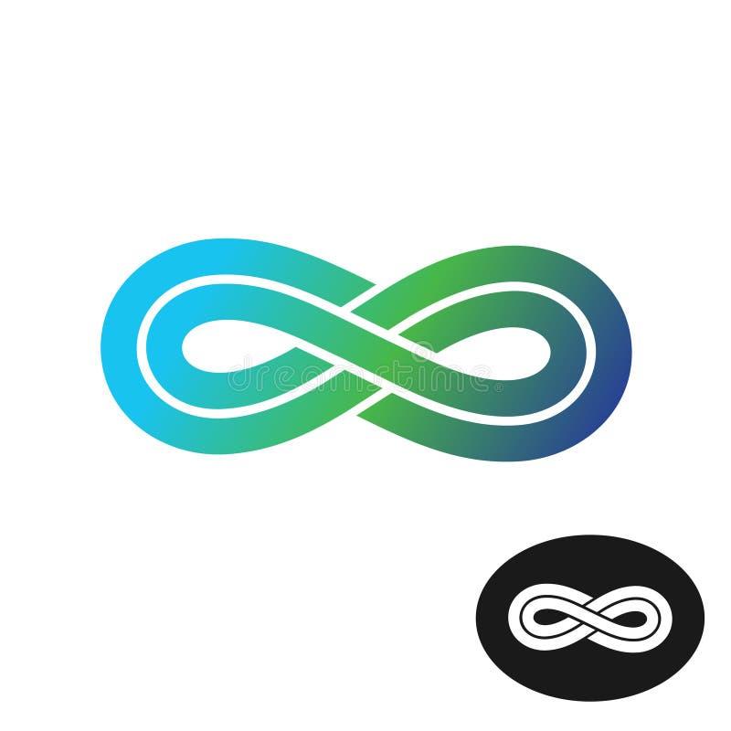 Logotipo da infinidade da cor ilustração royalty free