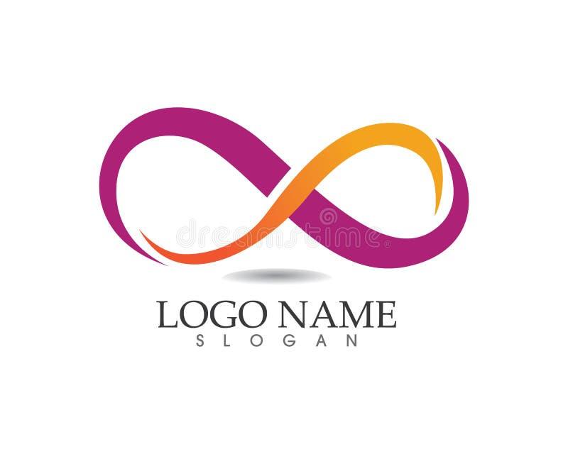 Logotipo da infinidade e molde do símbolo ilustração royalty free