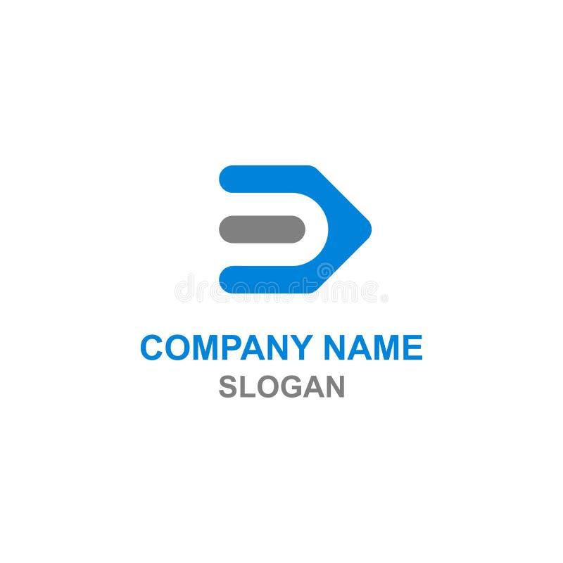 Logotipo da inicial da letra de D ilustração royalty free
