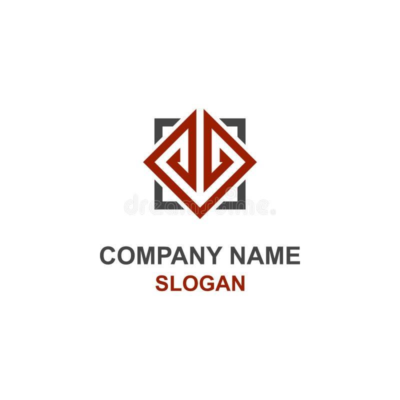 Logotipo da inicial da letra de JL ilustração stock