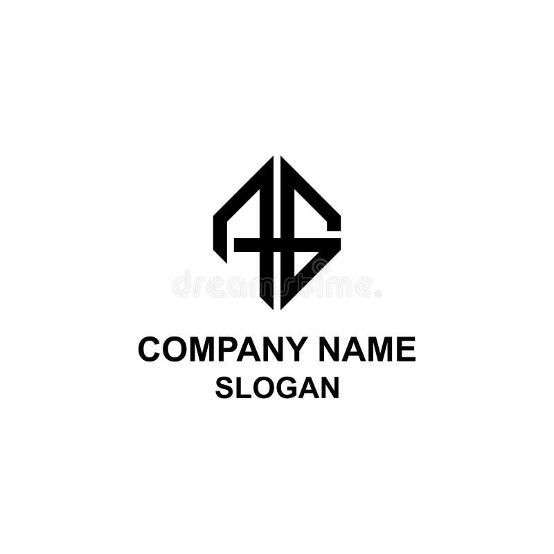 Logotipo da inicial da letra do AG ilustração royalty free