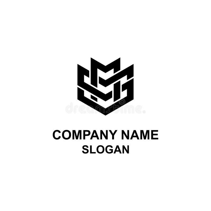 Logotipo da inicial da letra do MS ilustração royalty free