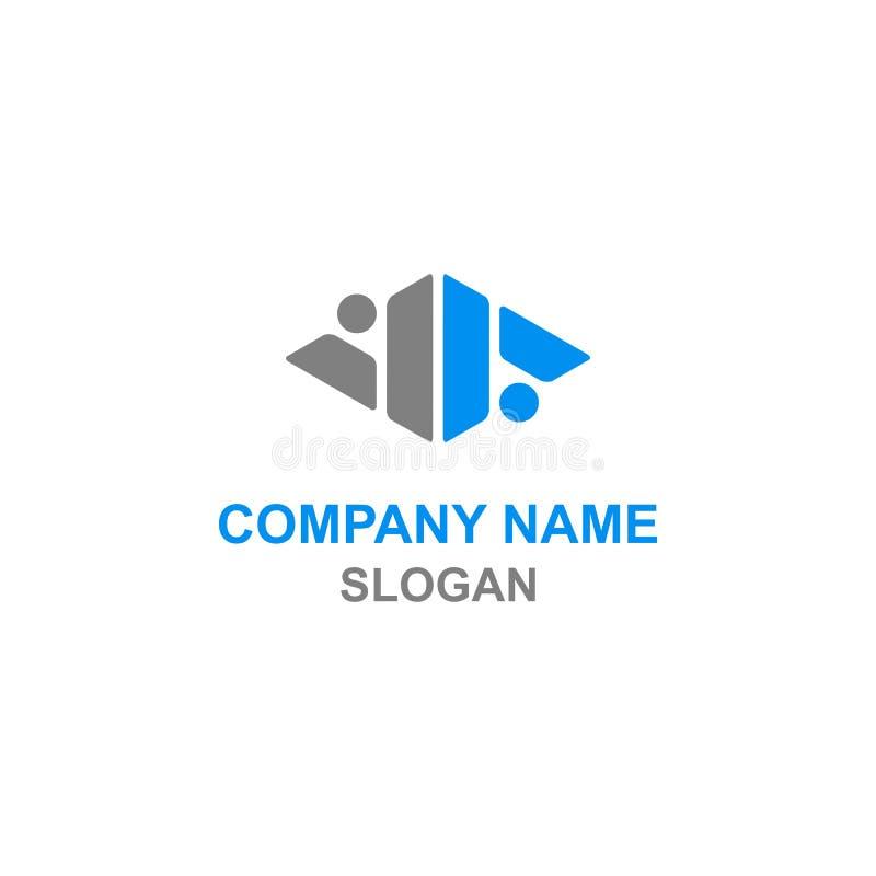 Logotipo da inicial da letra do VA ilustração stock