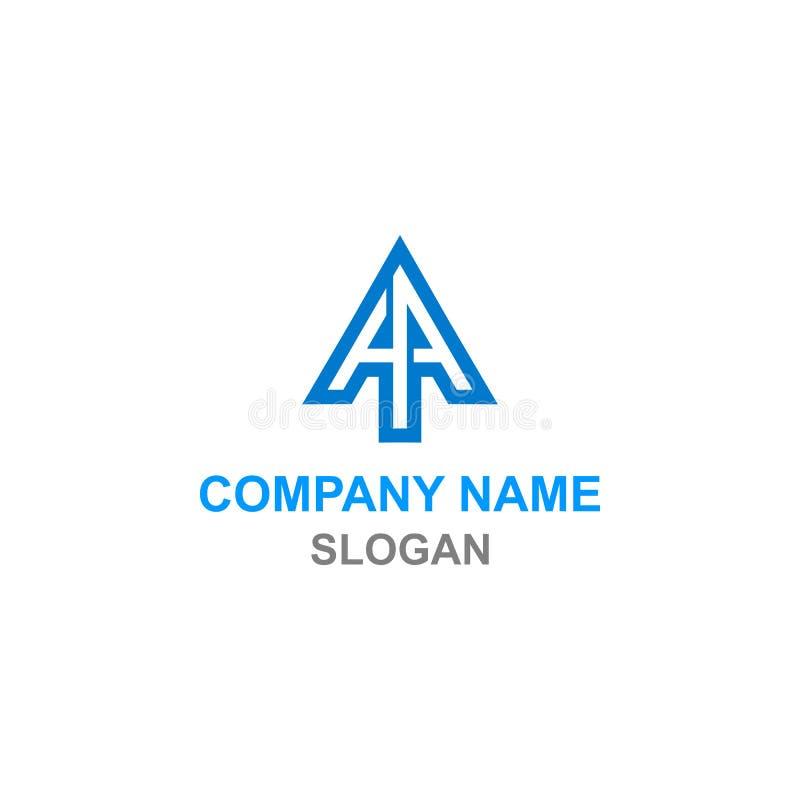 Logotipo da inicial da letra da seta do AA ilustração stock