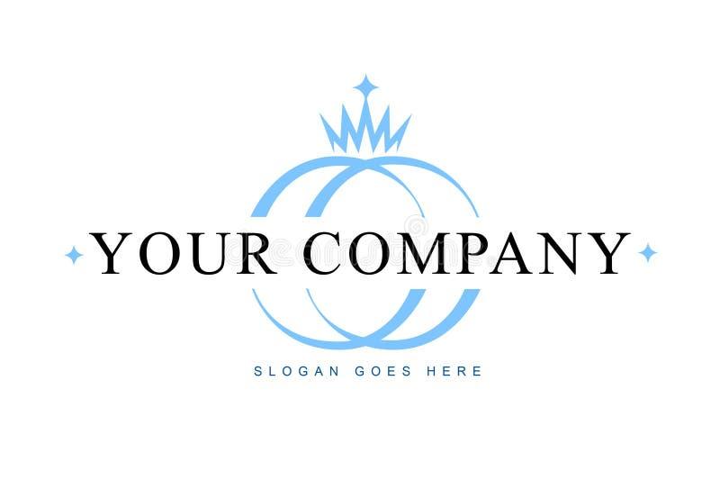 Logotipo da jóia ilustração stock