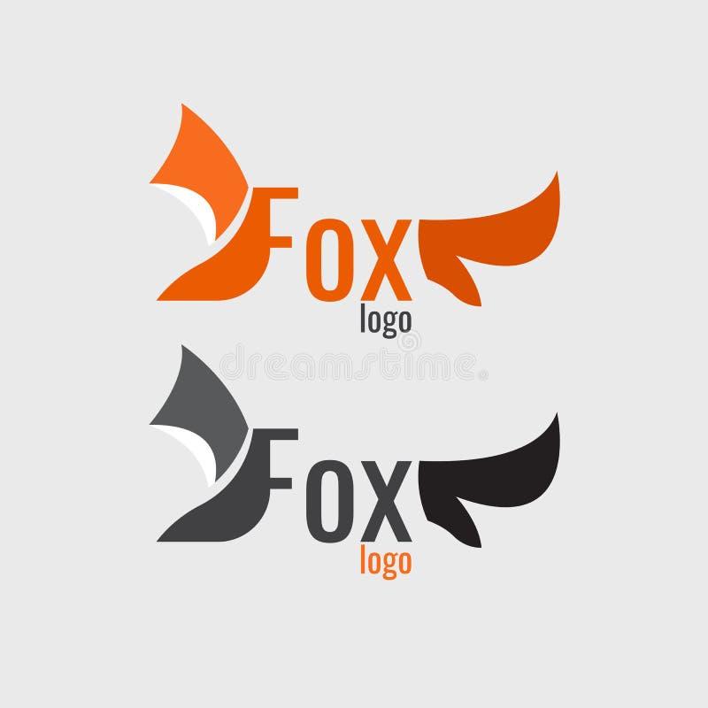 Logotipo da laranja do Fox moderno no fundo branco ilustração stock
