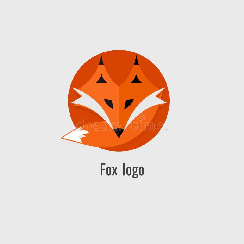 Logotipo da laranja da raposa da página moderno no fundo branco ilustração do vetor