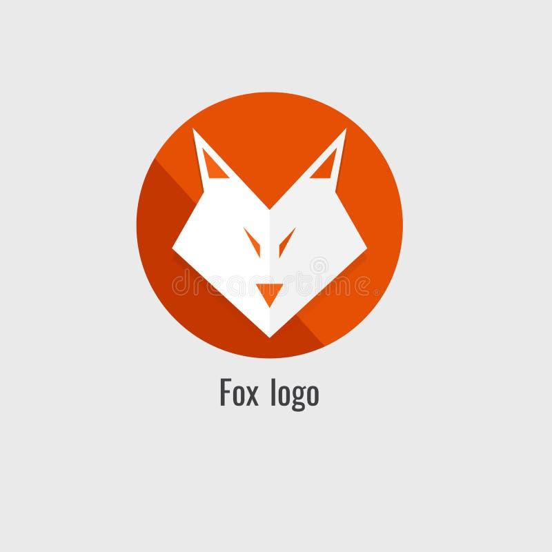 Logotipo da laranja da raposa da página moderno no fundo branco ilustração royalty free
