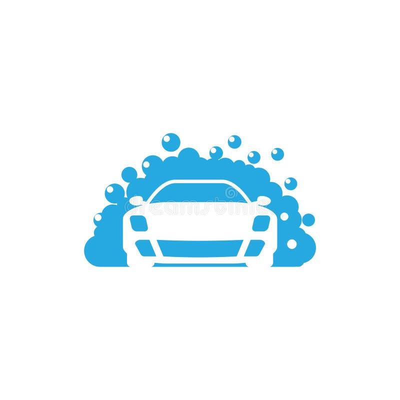 Logotipo da lavagem de carros, ícone de limpeza do carro ilustração do vetor