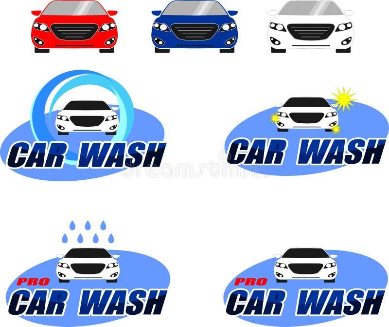 Logotipo da lavagem de carros ilustração stock