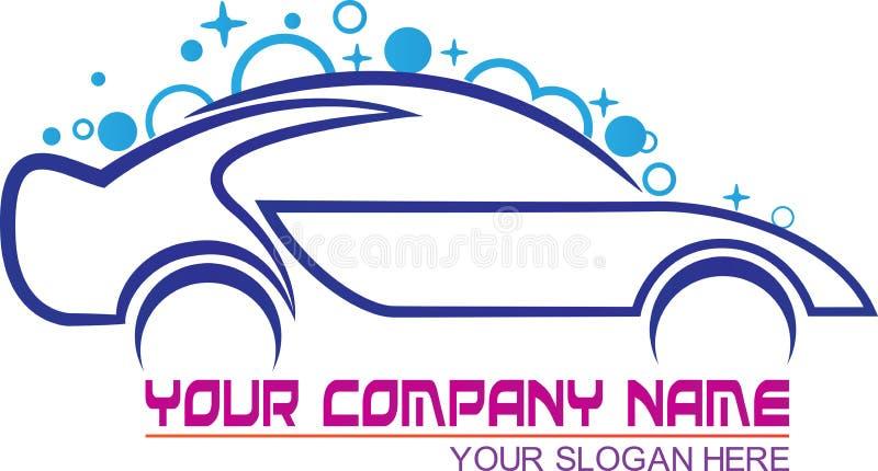 Logotipo da lavagem de carros ilustração royalty free