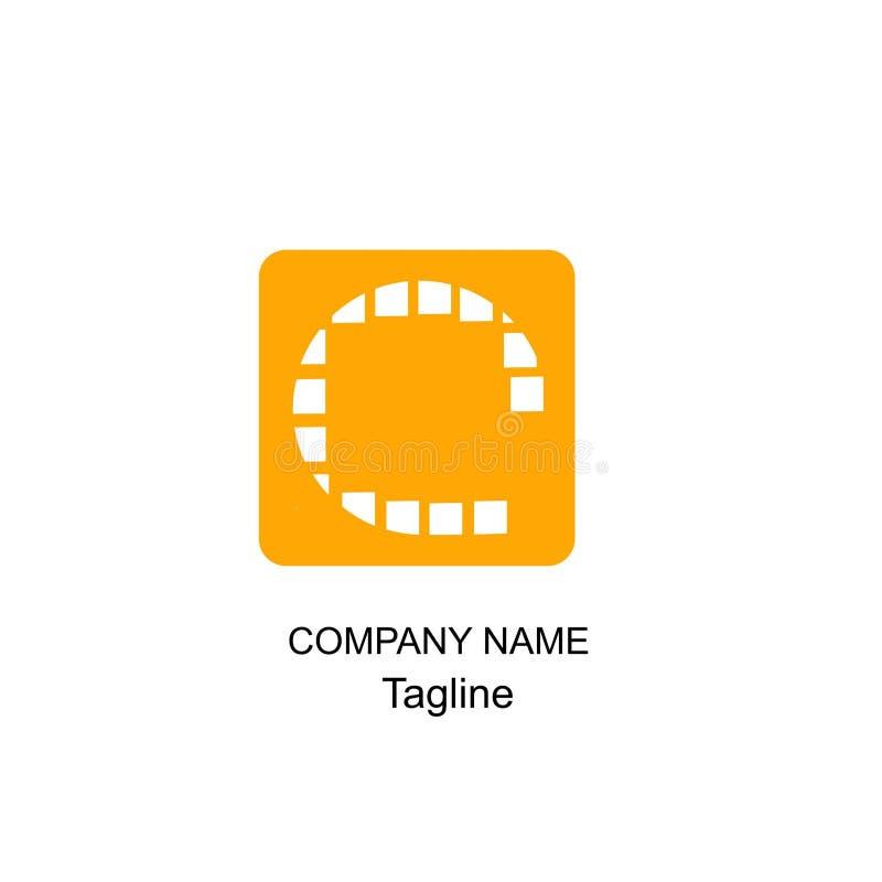 Logotipo da letra c da escova imagens de stock