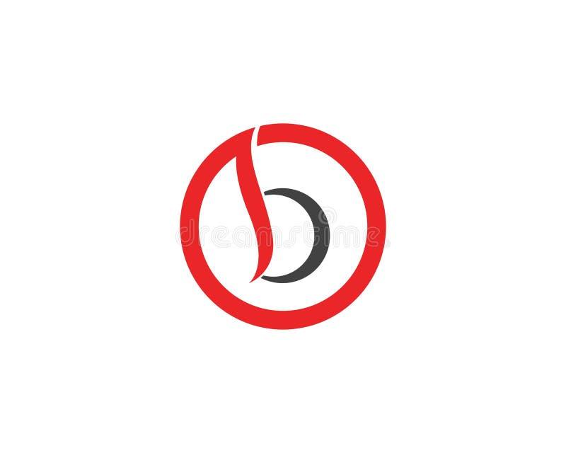 Logotipo da letra de B ilustração do vetor