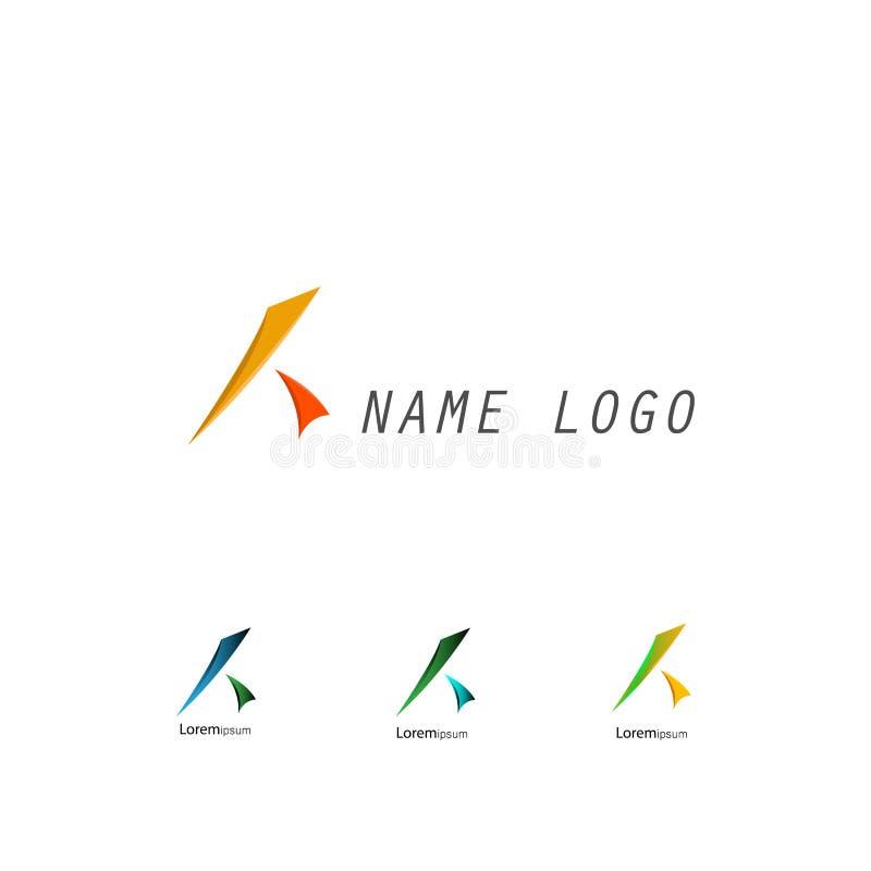 Logotipo da letra de K ilustração royalty free