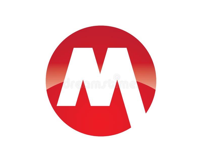 Logotipo da letra de M ilustração do vetor