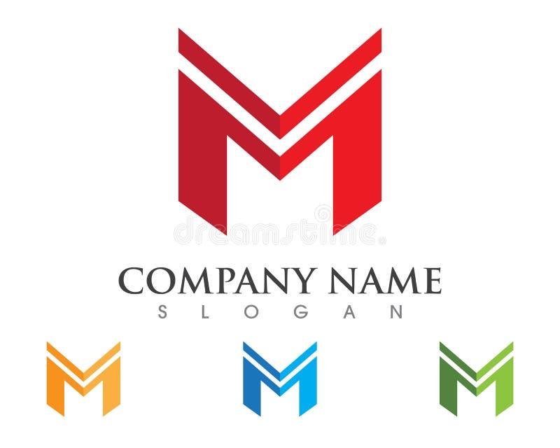 Logotipo da letra de M ilustração royalty free