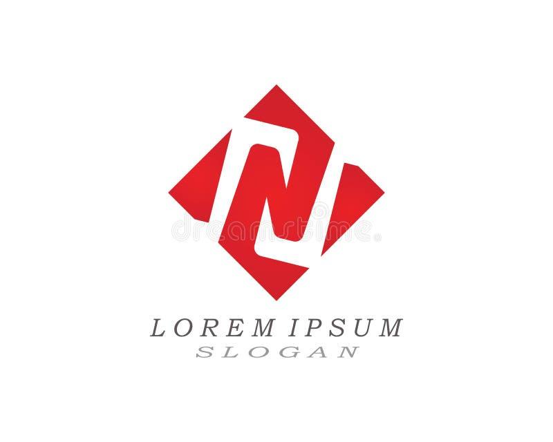 Logotipo da letra de N ilustração royalty free