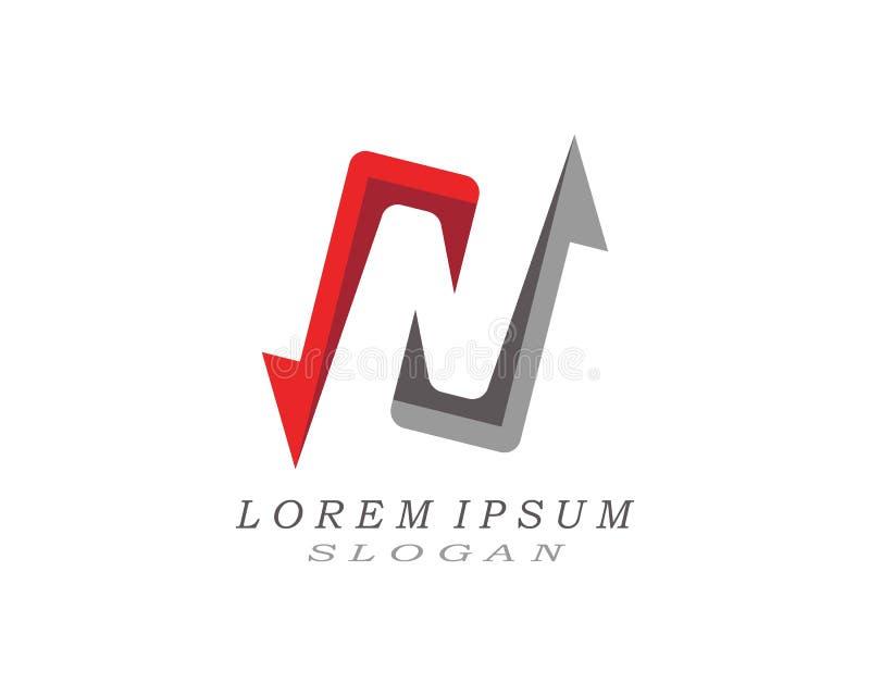 Logotipo da letra de N ilustração stock