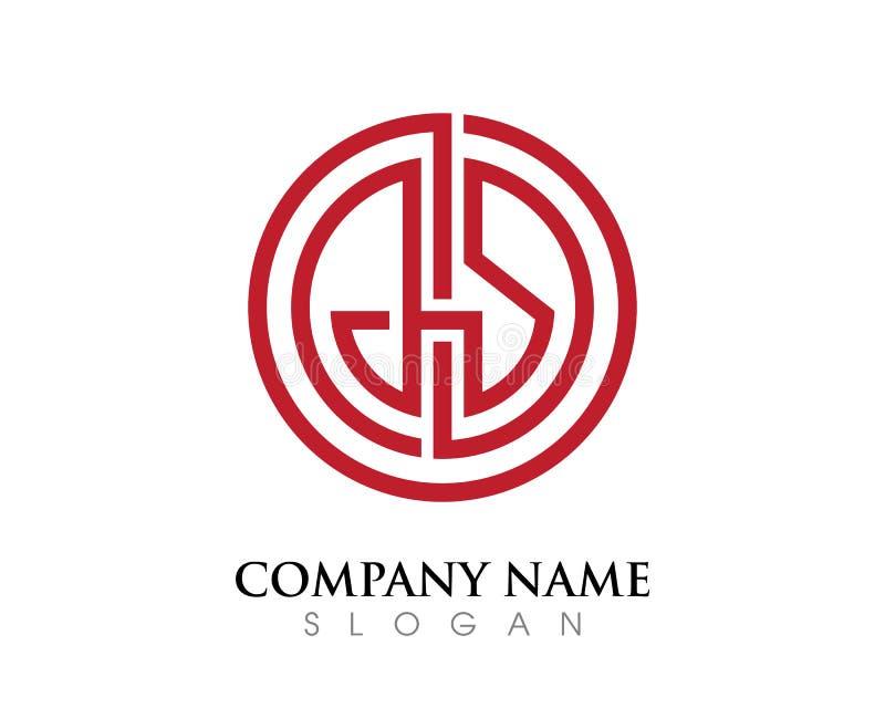 Logotipo da letra do GS ilustração royalty free