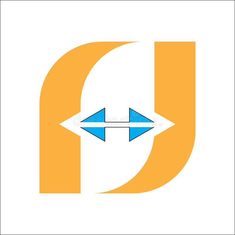 Logotipo da letra F em e isolado ilustração do vetor