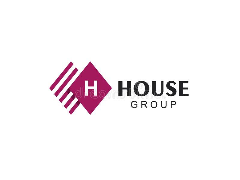 Logotipo da letra H Logotipo abstrato para a empresa de negócio ilustração royalty free