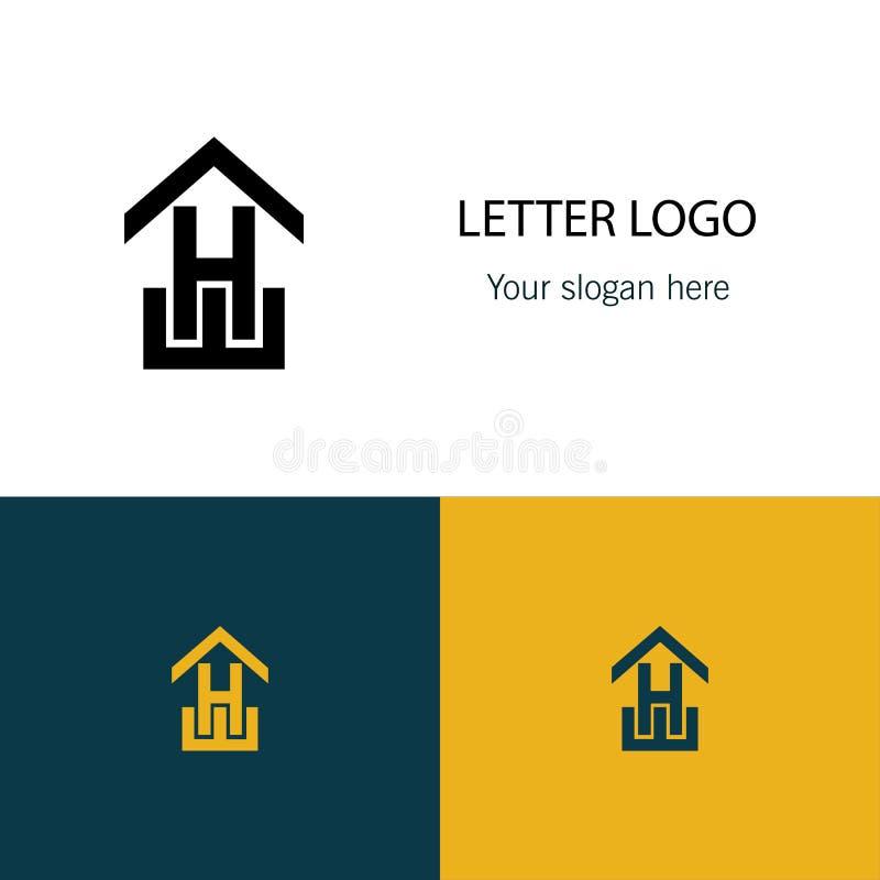 Logotipo da letra H da seta ilustração stock