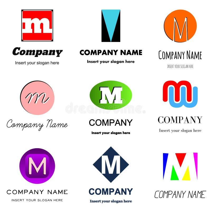 Logotipo da letra M ilustração stock