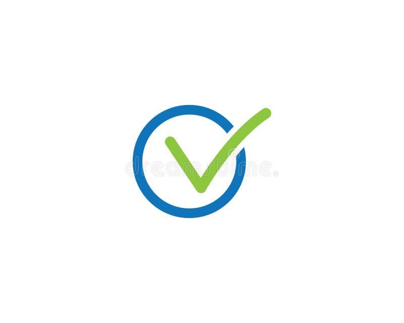 Logotipo da letra da marca de verifica??o V ilustração royalty free