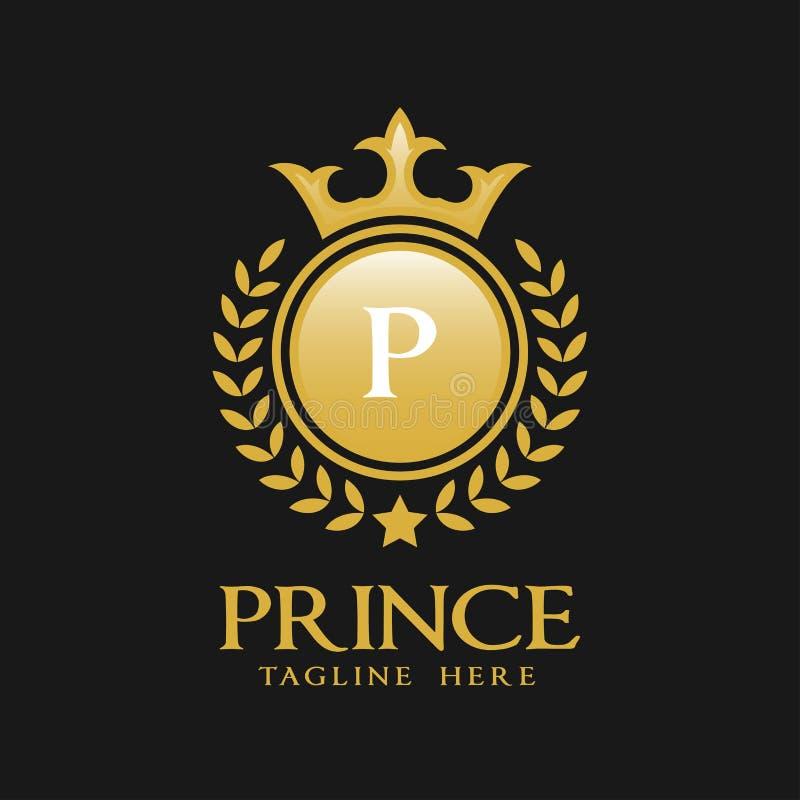 Logotipo da letra P - estilo luxuoso clássico Logo Template ilustração do vetor