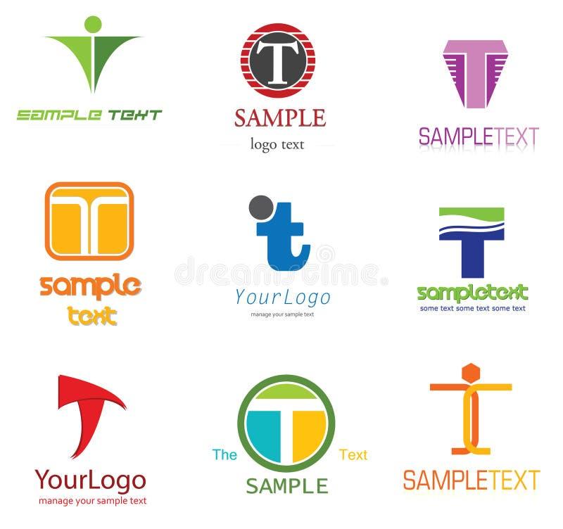 Logotipo da letra T ilustração royalty free