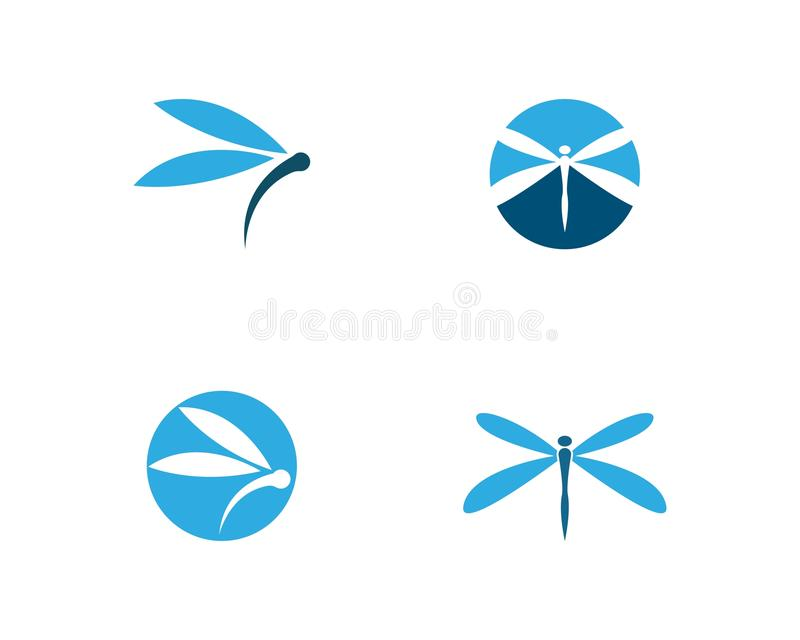 Logotipo da libélula ilustração do vetor