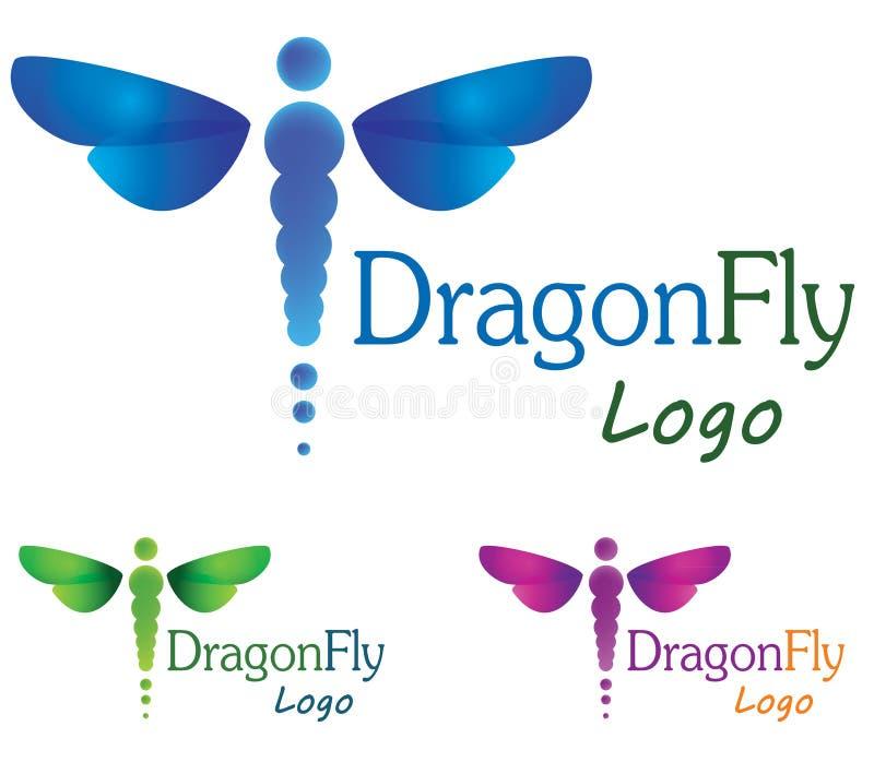 Logotipo da libélula ilustração royalty free