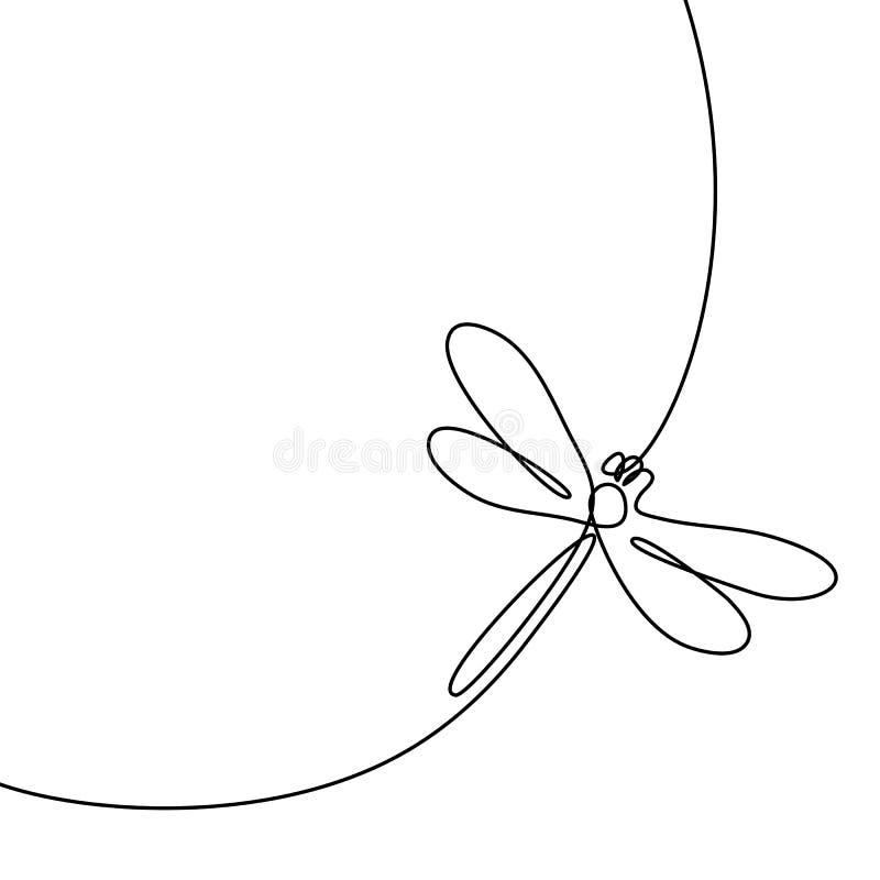 Logotipo da libélula do voo ilustração stock