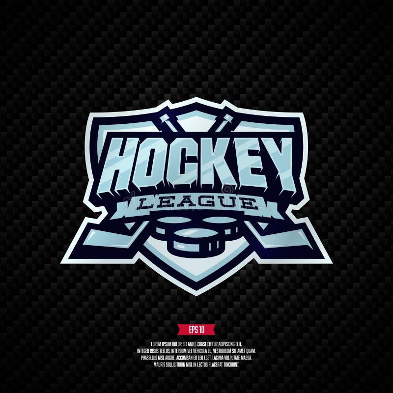 Logotipo da liga de hóquei imagens de stock royalty free