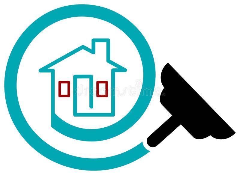 Logotipo da limpeza da casa ilustração do vetor