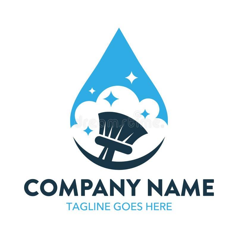 Logotipo da limpeza e da manutenção ilustração stock
