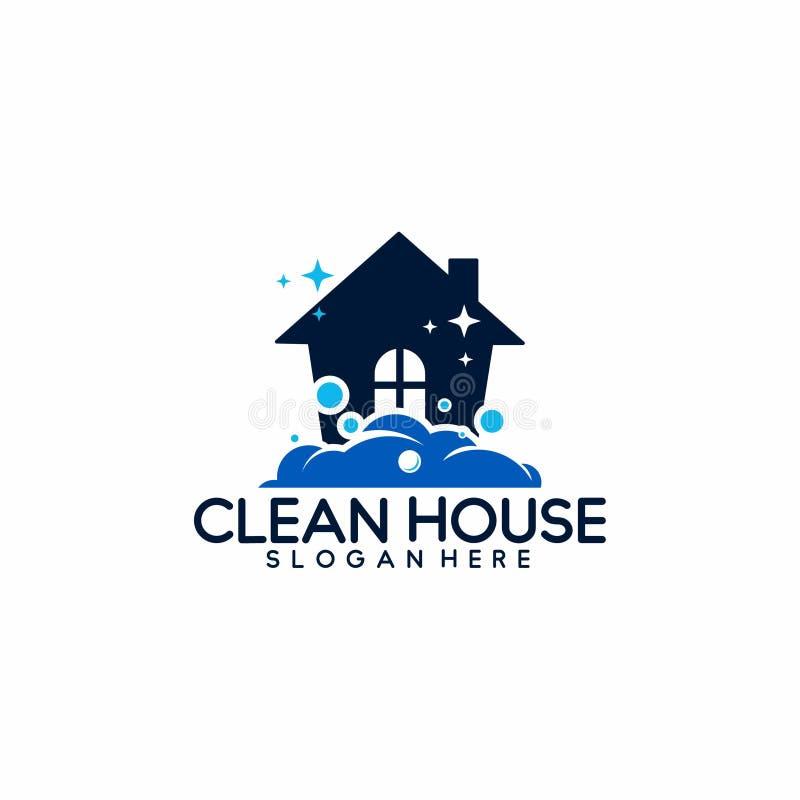 Logotipo da limpeza e da manutenção da casa - vetor ilustração do vetor