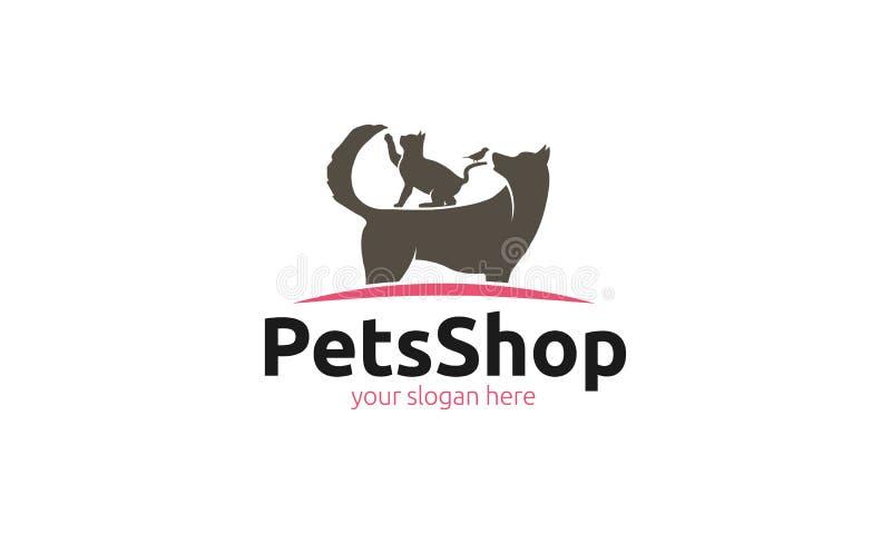 Logotipo da loja de animais de estimação ilustração do vetor