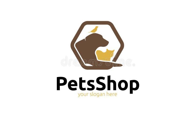 Logotipo da loja de animais de estimação ilustração royalty free