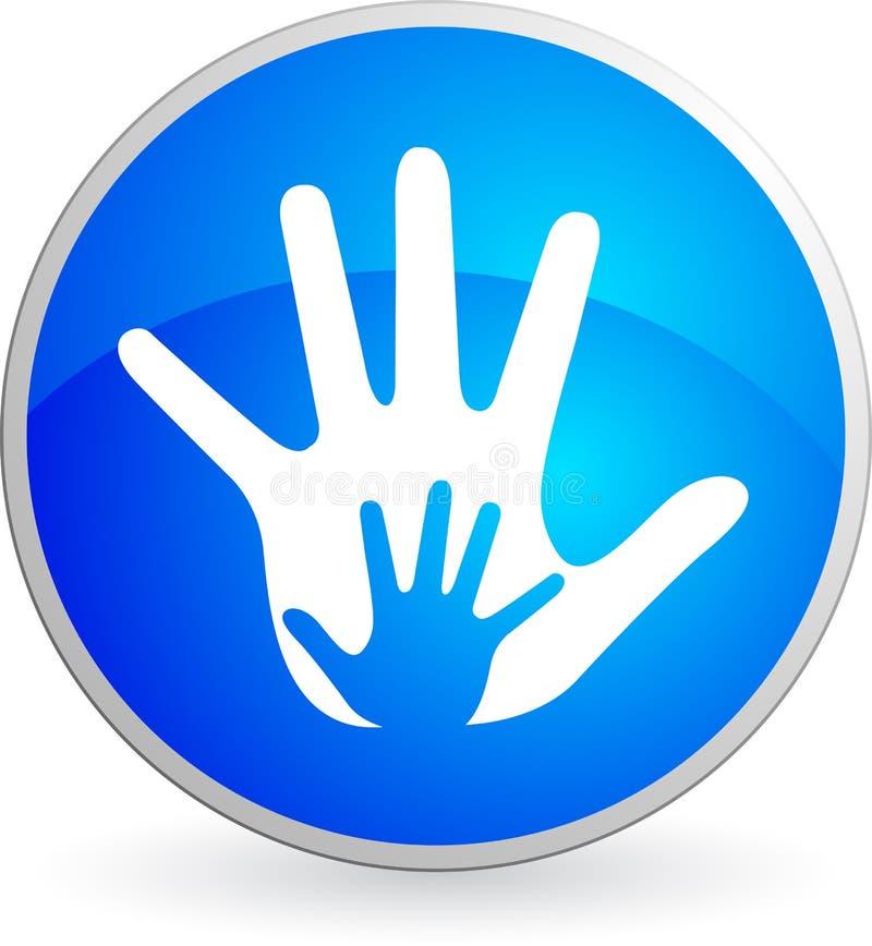 Logotipo da mão ilustração do vetor