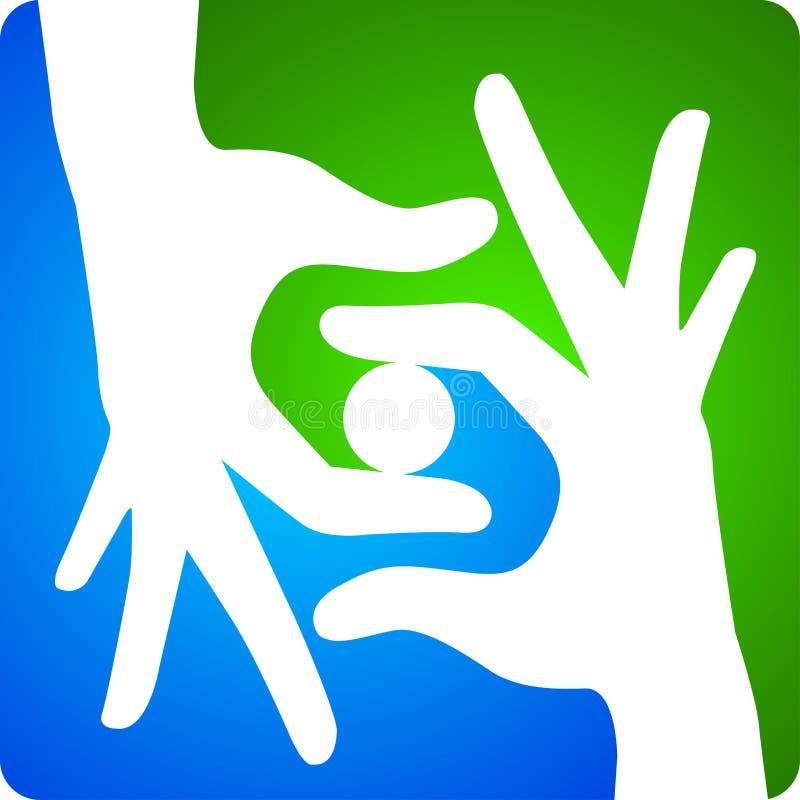 Logotipo da mão ilustração stock