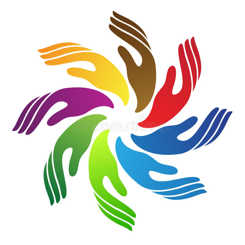 Logotipo da mão ilustração royalty free