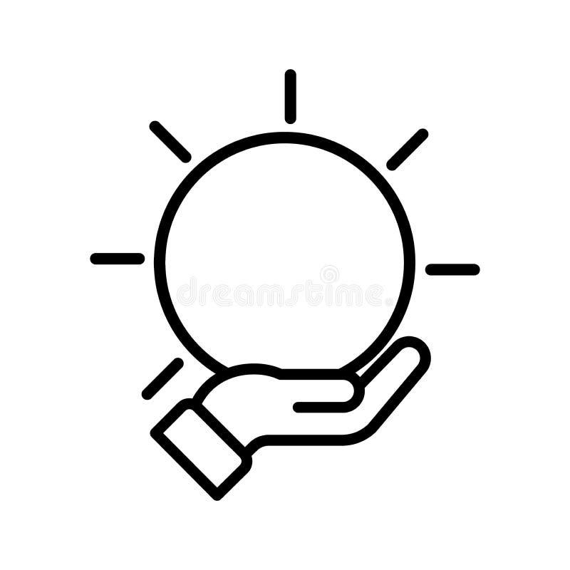 Logotipo da mão do vetor ilustração do vetor