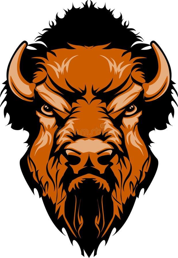Logotipo da mascote do búfalo ilustração do vetor